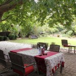 Cedrics Country Lodge Greyton Main House patio and garden